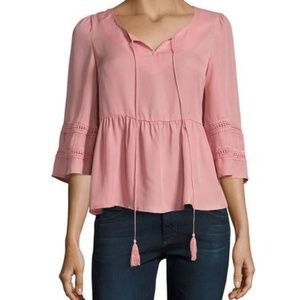 Lucca Couture Tassle Blouse